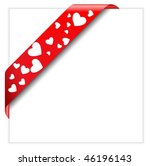heart shaped perforated... | Shutterstock .eps vector #46196143