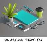 mockup scenes on education... | Shutterstock .eps vector #461964892