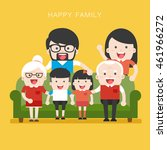big family. happy family whith... | Shutterstock .eps vector #461966272