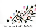 flat lay female cosmetics... | Shutterstock . vector #461966626