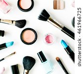 flat lay female cosmetics... | Shutterstock . vector #461966725