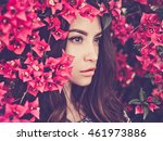 outdoor fashion photo of... | Shutterstock . vector #461973886