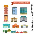 flat city elements with... | Shutterstock .eps vector #461979772