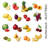 fruits isolated colored icon... | Shutterstock .eps vector #461979862