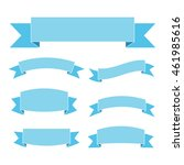 blue ribbon banners set.... | Shutterstock .eps vector #461985616