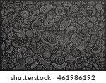 line art chalkboard vector hand ... | Shutterstock .eps vector #461986192