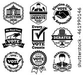 vote and election labels.... | Shutterstock .eps vector #461990146