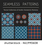 seamless textures collection... | Shutterstock .eps vector #461990608