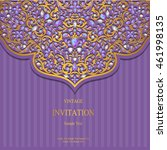 wedding invitation or card with ... | Shutterstock .eps vector #461998135
