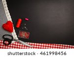 background with sewing and... | Shutterstock . vector #461998456