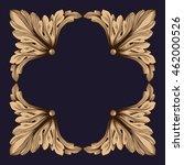 premium gold vintage baroque... | Shutterstock .eps vector #462000526