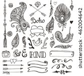 tribal rustic collection... | Shutterstock .eps vector #462004642