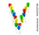 3d rendering.funny balloons... | Shutterstock . vector #462010738