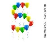 3d rendering.funny balloons... | Shutterstock . vector #462012148