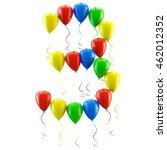 3d rendering.funny balloons... | Shutterstock . vector #462012352