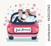 vector illustration of cartoon... | Shutterstock .eps vector #462012562