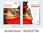 red modern brochure design.... | Shutterstock .eps vector #462012736