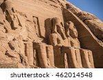 Small photo of statues Abu Simbel. The temple complex of Abu Simbel Statue of Ramses, Egypt