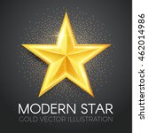 gold star. 3d realistic design. ...