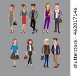 vector detailed characters... | Shutterstock .eps vector #462017146