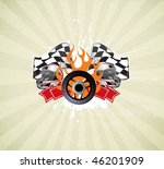 racing sign on the grunge... | Shutterstock .eps vector #46201909