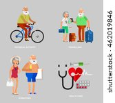character travelers. old age... | Shutterstock .eps vector #462019846
