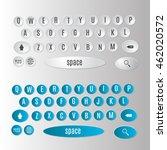 smartphone keyboard template....