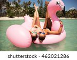 summer lifestyle portrait of... | Shutterstock . vector #462021286
