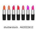 set of color lipsticks on white ... | Shutterstock . vector #462022612