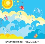 sea | Shutterstock .eps vector #46202374