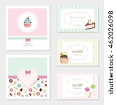 cute card templates set. for...