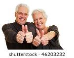 two happy senior citizens... | Shutterstock . vector #46203232