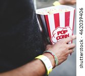 Small photo of Pop-Corn Amusement Happiness Relaxation Concept