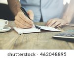 business investment analysis... | Shutterstock . vector #462048895