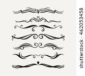 vector set of elegant curls and ...   Shutterstock .eps vector #462053458