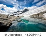 scenery of high mountain with... | Shutterstock . vector #462054442