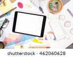 top view and close up of blank... | Shutterstock . vector #462060628