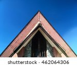 triangle roof shape exterior... | Shutterstock . vector #462064306