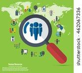 human resource   conceptual... | Shutterstock .eps vector #462067336