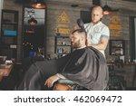 serious bearded man getting... | Shutterstock . vector #462069472