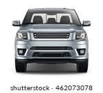 silver pickup car   front view  ... | Shutterstock . vector #462073078
