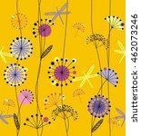 dandelions flowers white  pink  ... | Shutterstock .eps vector #462073246