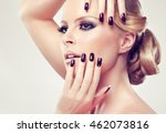 blonde model  girl  with... | Shutterstock . vector #462073816