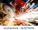 close up of electric grinder... | Shutterstock . vector #462074296