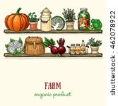 background design with farm... | Shutterstock .eps vector #462078922