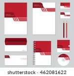 corporate identity template   | Shutterstock .eps vector #462081622