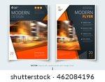 orange flyer design. corporate...   Shutterstock .eps vector #462084196