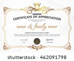 certificate to be elegant and... | Shutterstock .eps vector #462091798