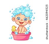 Funny Little Baby With Soap...