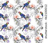 beautiful seamless pattern with ... | Shutterstock . vector #462100012